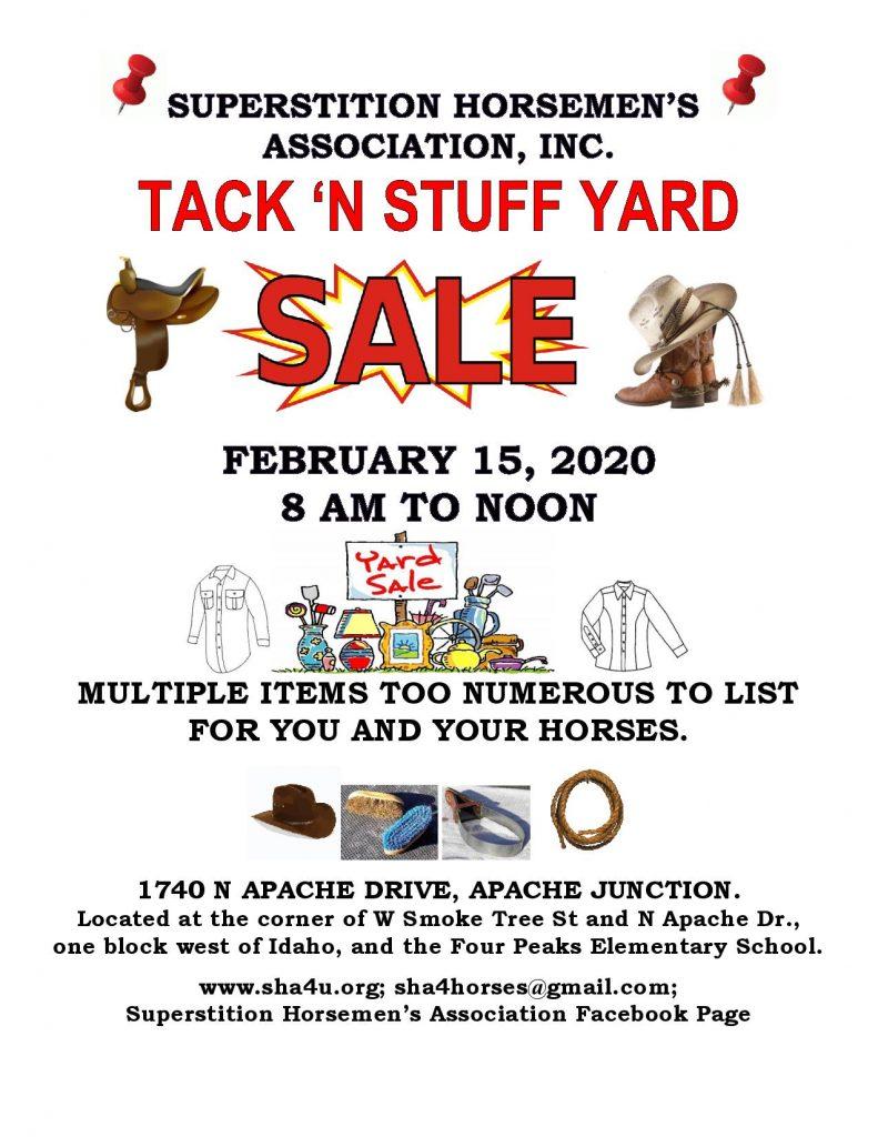 Tack N Stuff Yard Sale flyer